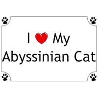 Image of Abyssinian Cat T-Shirt - I love my