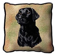 10870 Black Lab Pillow