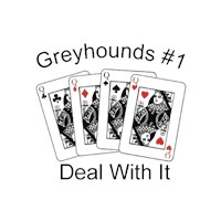 Greyhound T-Shirt - #1 Deal With It