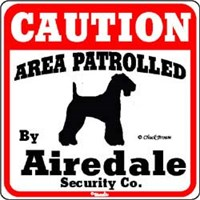 Airedale Terrier Sign