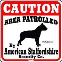 12285 Sign: American Staffordshire Terrier