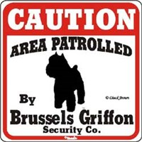 Brussels Griffon Sign