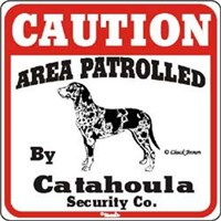 Catahoula Leopard Dog Sign