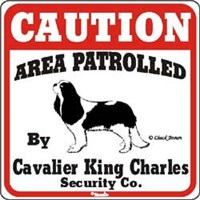 Cavalier King Charles Spaniel Caution Sign