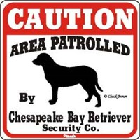 Chesapeake Bay Retriever Sign