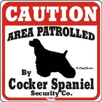Cocker Spaniel Sign