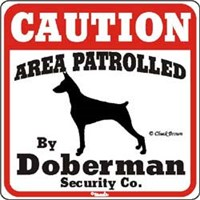 Doberman Pinscher Sign