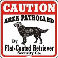 Flat-Coated Retriever Sign