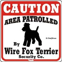 Wire Fox Terrier Sign