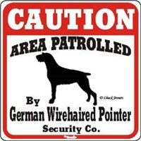 12335 German Wirehaired Pointer Sign