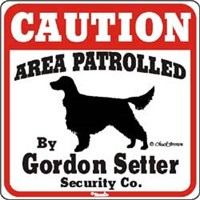 Gordon Setter Sign