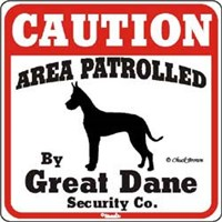 Great Dane Sign