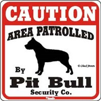 Pit Bull Terrier Sign