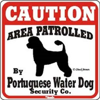 Portuguese Water Dog Sign