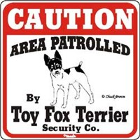 Toy Fox Terrier Sign