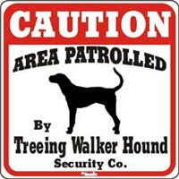 Treeing Walker Coonhound Sign