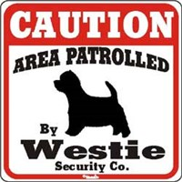 Westie Caution Sign