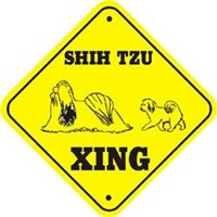 Shih Tzu T-Shirt - Crossing Sign