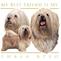 Lhasa Apso T-Shirt - My Best Friend Is