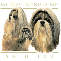 Shih Tzu T-Shirt - My Best Friend Is