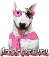Bull Terrier T- Shirt Heart Breaker