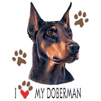 Doberman Pinscher T-Shirt - History Collection Uncropped