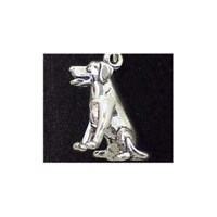 Golden Retriever Sterling Silver Charm