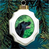 Flat-Coated Retriever Christmas Ornament