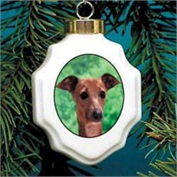 Italian Greyhound Christmas Ornament Porcelain