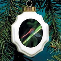 Dragonfly Christmas Ornament Porcelain