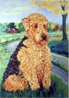 Airedale Terrier Flag