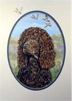 Irish Water Spaniel Garden Flag