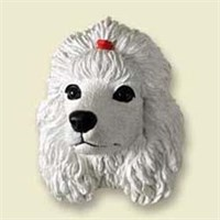 White Poodle Magnet