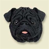 Black Pug Magnet Best Price