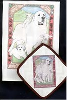 6632 Dish Towel   Potholder: Great Pyrenees