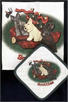 Scottish Terrier Dish Towel & Potholder
