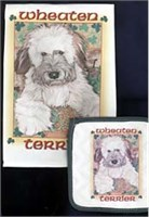 Wheaten Terrier Dish Towel & Potholder