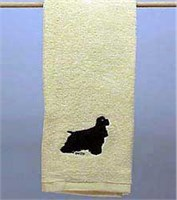 Black Cocker Spaniel Hand Towel
