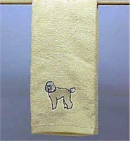 White Poodle Hand Towel