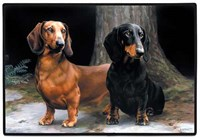 7318 Floormat: Dachshunds