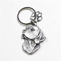 Beagle Pewter Key Chain