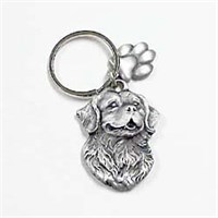 Bernese Mountain Dog Pewter Key Chain