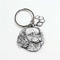 Cavalier King Charles Spaniel Pewter Key Chain