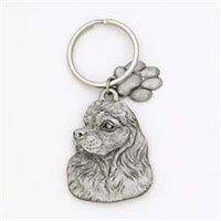 Cocker Spaniel Pewter Key Chain