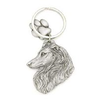 Collie Pewter Key Chain