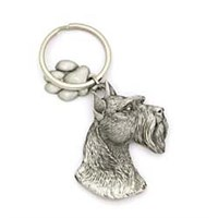 Schnauzer Pewter Key Chain