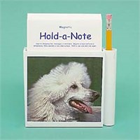 White Poodle Hold-a-Note