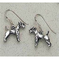 Schnauzer Earrings Sterling Silver