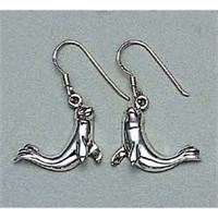 Seal Earrings Sterling Silver