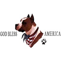 God Bless America Pitbull Shirt